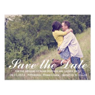 Addieren Sie Ihr eigenes Foto Save the Date Postkarte