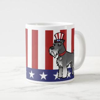 Addieren Sie Ihr eigenes Haustier und Flagge Jumbo-Tasse