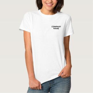 Addieren Sie Ihr Firmenhandelsname-gesticktes Besticktes T-Shirt