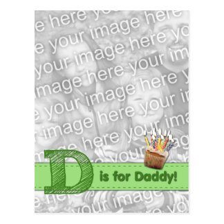 ADDIEREN Sie IHR FOTO, das flüchtiges D für Vati Postkarte
