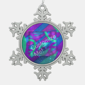 Addieren Sie Ihr Foto Schneeflocken Zinn-Ornament