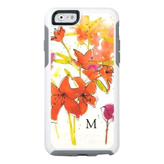 Addieren Sie Ihr Monogramm   die Pflaume von Patty OtterBox iPhone 6/6s Hülle
