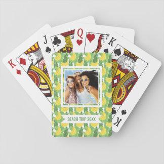 Addieren Sie Ihr Namens  Bananen-Blätter und Spielkarten