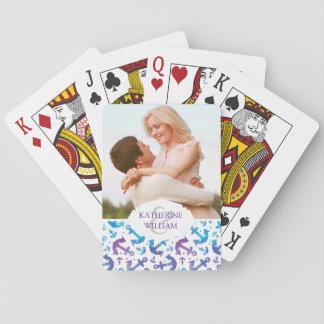 Addieren Sie Ihr Namens  Krawatten-Anker-Muster 2 Spielkarten