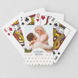 Addieren Sie Ihr Namens| Minianker-Muster Spielkarten