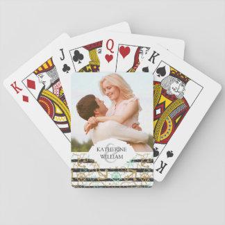 Addieren Sie Ihr Namens| Seeanker-Muster Spielkarten
