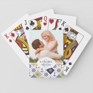 Addieren Sie Ihr Namens| Seethema-Muster Spielkarten