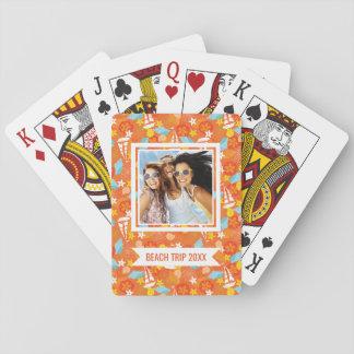 Addieren Sie Ihr Namens| tropisches Spielkarten