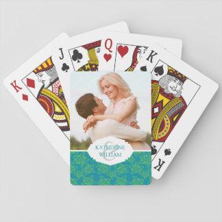 Addieren Sie Ihr Namensmonogramm des | Spielkarten