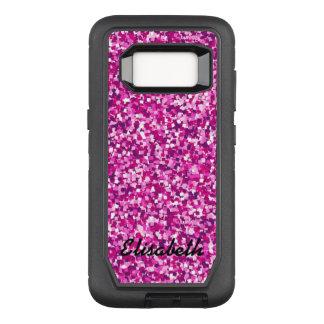Addieren Sie Ihr ROSA NamensGlitter OtterBox Defender Samsung Galaxy S8 Hülle