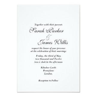 Addieren Sie Ihre eigene Band Hochzeit einladen 12,7 X 17,8 Cm Einladungskarte