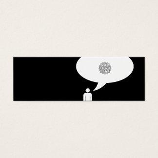 addieren Sie Ihre eigene Logoempfehlung Mini-Visitenkarten