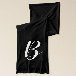 Addieren Sie Ihre eigene Monogramm-elegante Schal