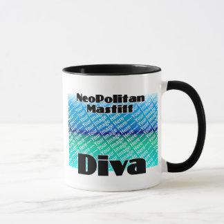 ADDIEREN Sie IHRE FOTO Neopolitan Mastiff-Diva Tasse