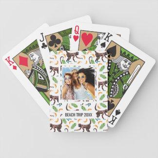 Addieren Sie Ihre Namens| Bonbon-Affen, die Bicycle Spielkarten