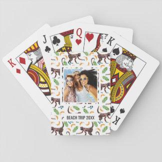 Addieren Sie Ihre Namens| Bonbon-Affen, die Spielkarten