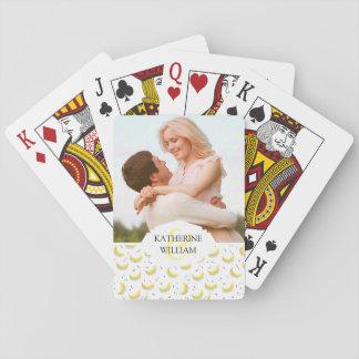 Addieren Sie Ihre Namens  geometrischen Bananen Spielkarten