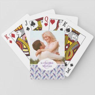 Addieren Sie Ihre Namens| lila Papageien Spielkarten
