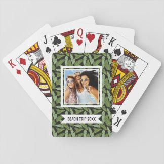 Addieren Sie Ihre Namens  Palmblätter Spielkarten