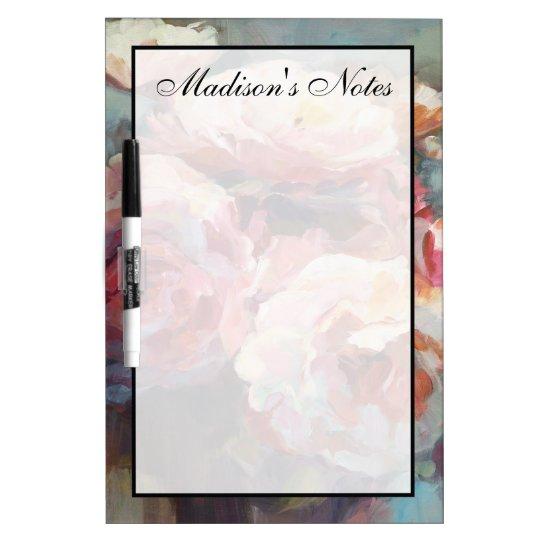 Addieren Sie Ihre Namens  wildes Rosa-Rosen Memoboard