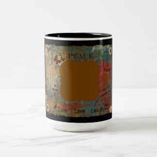 Addieren Sie Ihre Selbst Zweifarbige Tasse