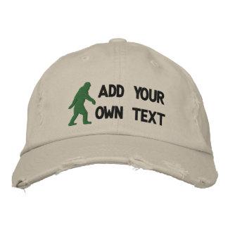 Addieren Sie Ihren eigenen Text, Bigfoot-Logo Bestickte Mützen
