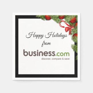 Addieren Sie Ihren Geschäfts-(langen) Papierserviette