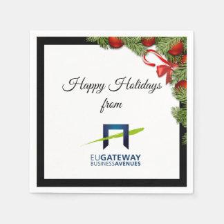 Addieren Sie Ihren Geschäfts-Logo-Feiertag Serviette