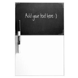 Addieren Sie Ihren Text, DIY Tafel-Blick Whiteboards