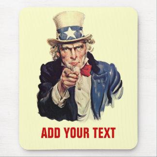 Addieren Sie Ihren Text Mousepads