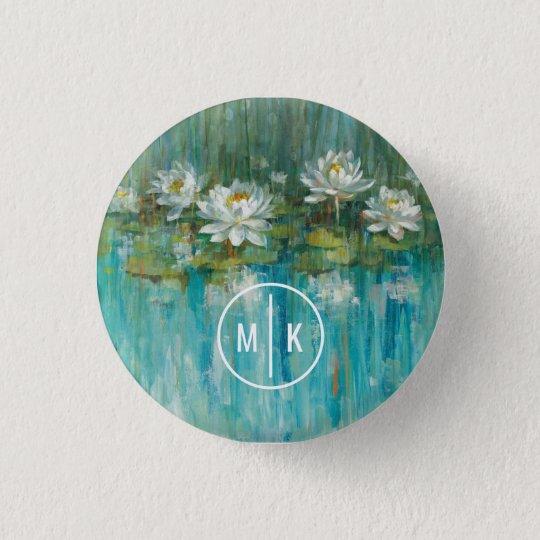 Addieren Sie Ihren Wasser-Lilien-Teich des Runder Button 3,2 Cm