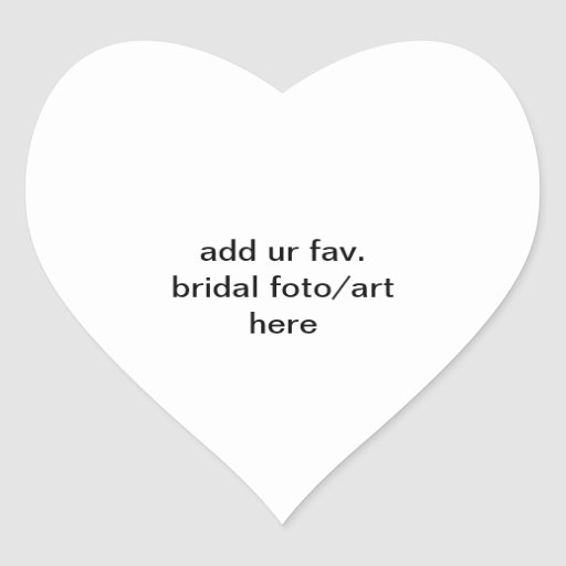 addieren Sie ur fav. Brautparty foto/Kunst hier Au Herzaufkleber