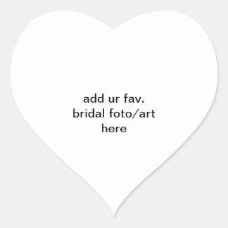 addieren Sie ur fav. Brautparty foto/Kunst hier Herz-Aufkleber