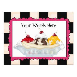 Addieren Sie Wort-Banana splitpostkarte Postkarte