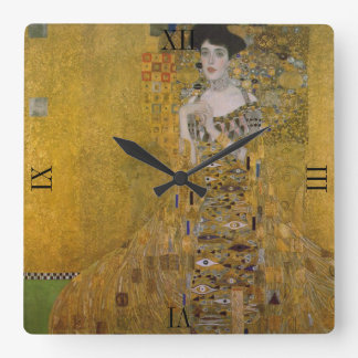 Adele Bloch Bauer durch Gustav Klimt Quadratische Wanduhr