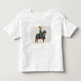 Adeln Sie in der Rüstung auf seinem Pferd, Platte Kleinkinder T-shirt