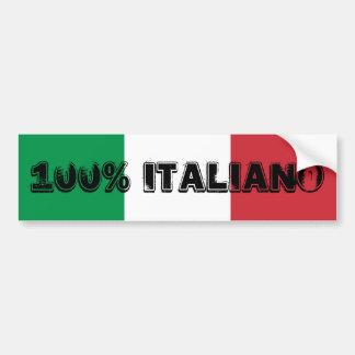 Adhésif pour pare-chocs 100% d'Italiano Autocollants Pour Voiture