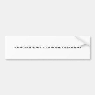 adhésif pour pare-chocs à vendre autocollant de voiture