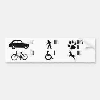 Adhésif pour pare-chocs de compteur de coup autocollant de voiture