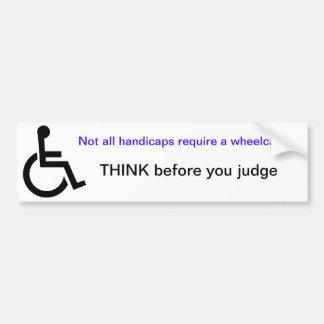 Adhésif pour pare-chocs de fauteuil roulant adhésifs pour voiture