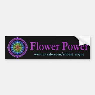 Adhésif pour pare-chocs de flower power autocollant de voiture