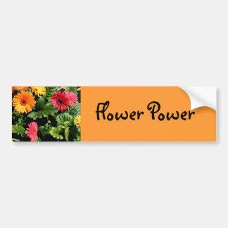 Adhésif pour pare-chocs de flower power de Gerbera Autocollant De Voiture