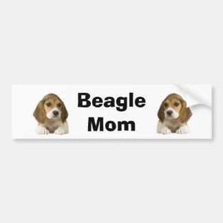 Adhésif pour pare-chocs de maman de beagle autocollant pour voiture