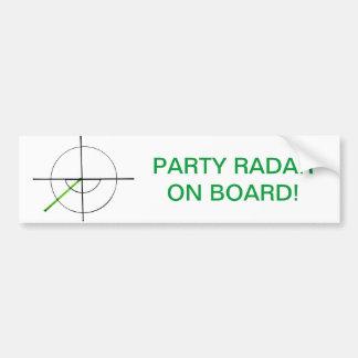 Adhésif pour pare-chocs de radar de partie autocollant de voiture