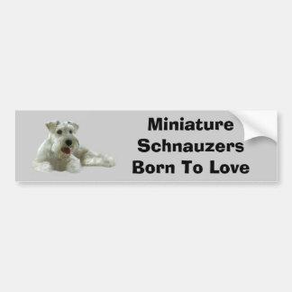 Adhésif pour pare-chocs de Schnauzer miniature Autocollants Pour Voiture