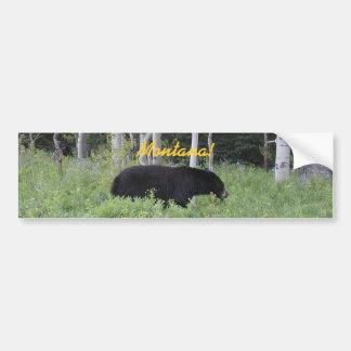 Adhésif pour pare-chocs du Montana d'ours Autocollant De Voiture