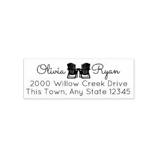 Adirondack Stuhl-Adresse Permastempel