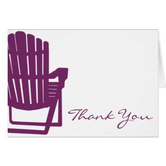 Adirondack Stuhl-Pflaume danken Ihnen Karte