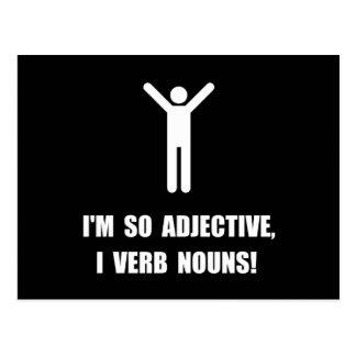 Adjektiv-Verb-Nomen Postkarte