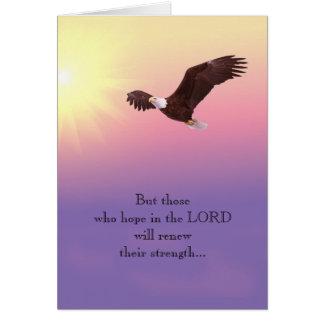 Adler-christliche Ermutigungs-Stärken-Hoffnung Grußkarte
